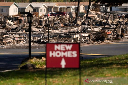 Dampak kebakaran hutan di Oregon