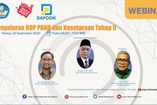 Kemendikbud gelar webinar BOP untuk percepat penyaluran dana BOP