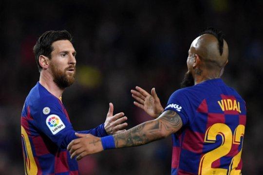 Segera gabung Inter, Vidal dapat pesan perpisahan dari Lionel Messi