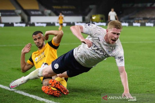 Manchester City curi angka penuh di kandang Wolverhampton Wanderers 3-1