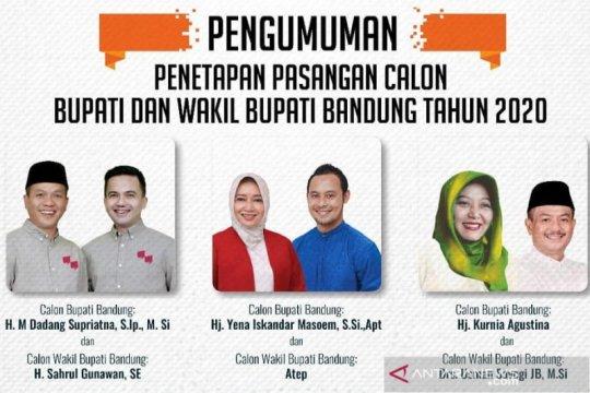 KPU Kabupaten Bandung tetapkan 3 paslon Pilkada 2020