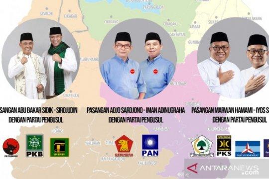 Tiga pasangan calon ditetapkan menjadi peserta Pilkada Sukabumi