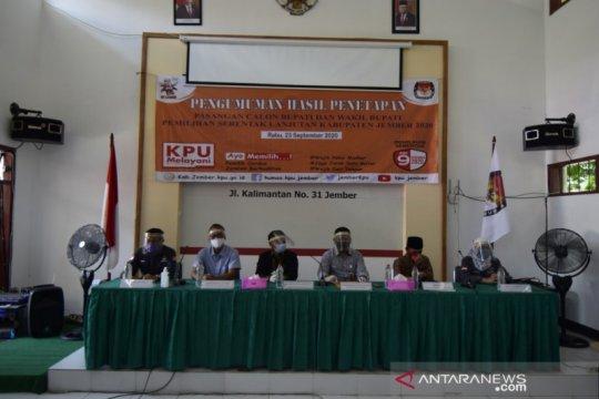 KPU Jember tetapkan 3 pasangan cabup-cawabup di Pilkada 2020