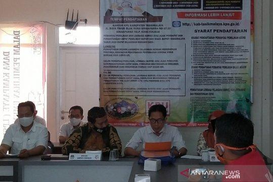KPU Kabupaten Tasikmalaya tetapkan empat pasangan peserta pilkada