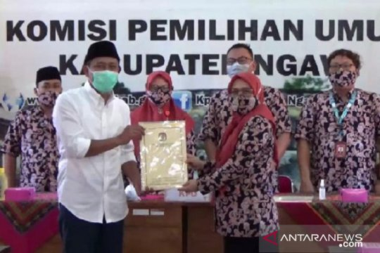 "KPU Ngawi tetapkan pasangan ""OK"" sebagai peserta tunggal Pilkada 2020"