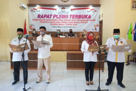 KPU Purbalingga tetapkan nomor urut calon bupati