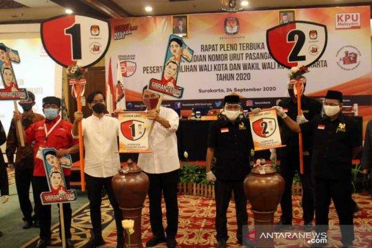 Gibran-Teguh nomor 1 dan Bajo 2 di Pilkada Surakarta