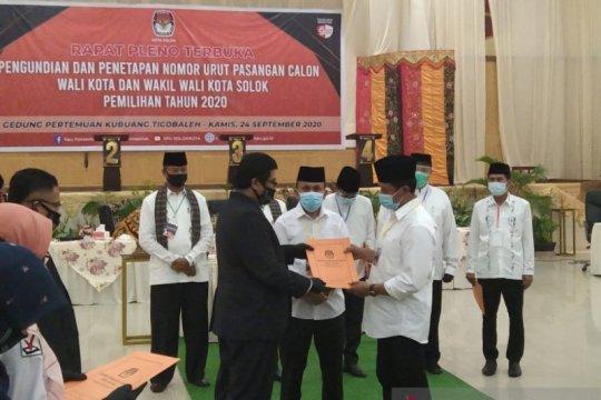 KPU tetapkan nomor urut paslon Pilkada Kota Solok 2020