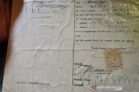 Dispusip Bandung tanggapi surat nikah Inggit-Soekarno yang dijual