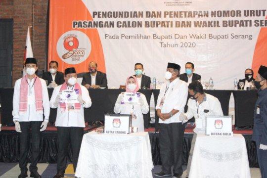Patuhi prokes, KPU Serang tetapkan nomor urut paslon Pilkada