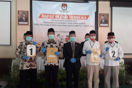 KPU Kabupaten Bantul tetapkan nomor urut kedua paslon Pilkada 2020