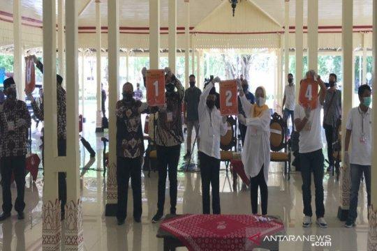 Empat paslon Pilkada Gunung Kidul mendapat nomor urut