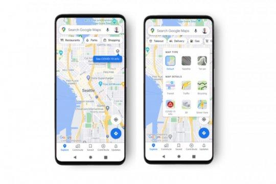 Google Maps tambah fitur tampilkan informasi tren kasus COVID-19