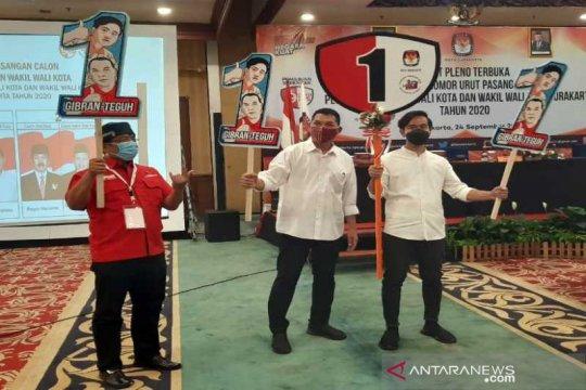 Pilkada Surakarta, Gibran-Teguh komitmen taati protokol kesehatan