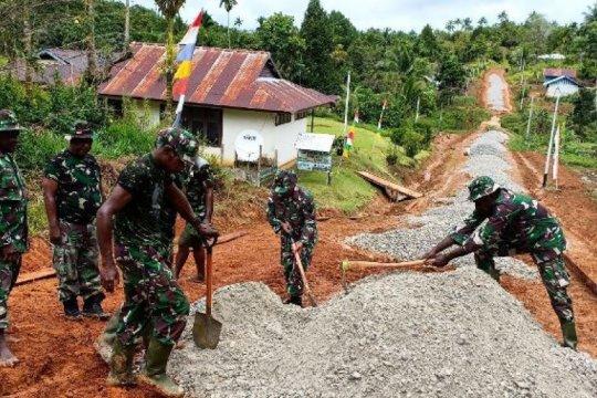 Satgas TMMD bangun jalan di Kampung Kakuna Boven Digoel Papua