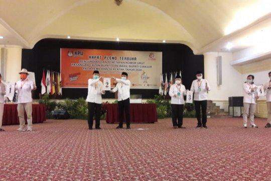 KPU tetapkan nomor urut paslon peserta Pilkada Cianjur 2020