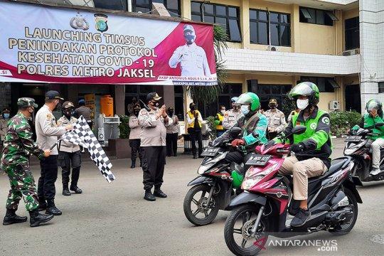 613 pengemudi ojek di Jakarta Selatan melanggar PSBB