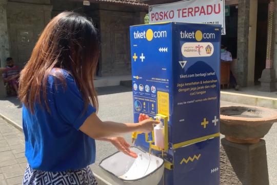 Bali terima bantuan fasilitas tempat cuci tangan di tempat wisata