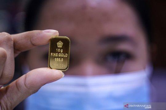 Harga emas Antam naik