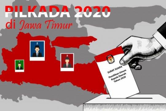 KPU Jatim: Dua daerah kandidatnya lawan bumbung kosong di Pilkada 2020