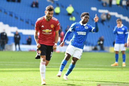 Manchester United menang dramatis 3-2 atas Brighton