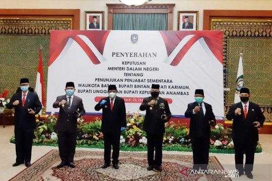 Lima Pjs bupati/wali kota di Provinsi Kepri dilantik