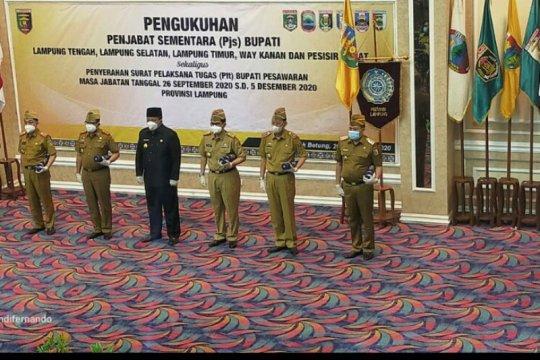 Gubernur Arinal lantik lima Pjs Bupati di Lampung