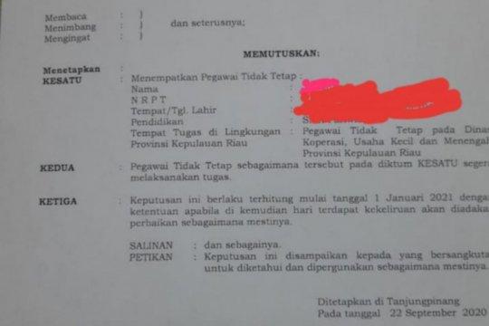 Ketika THL diangkat menjadi PTT menjelang Pilkada Kepri