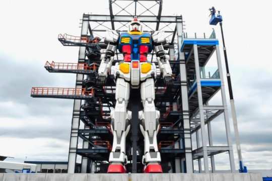 "Robot Gundam ""real size"" di Jepang mulai bergerak"