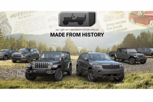 Versi baru Wrangler & Cherokee lengkapi jajaran Jeep 80th Anniversary