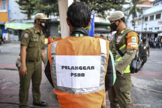 PSBB Jakarta, Satpol PP tindak 1.926 pelanggar masker