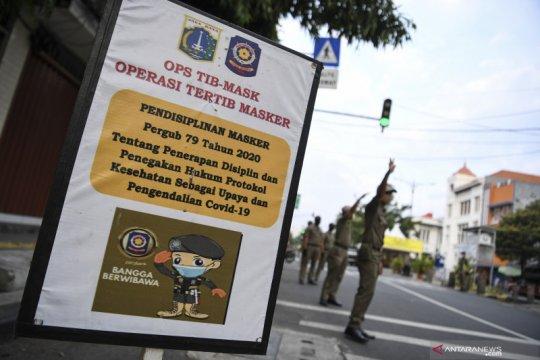 80 persen pelanggar tertib masker di Jakarta Barat anak muda