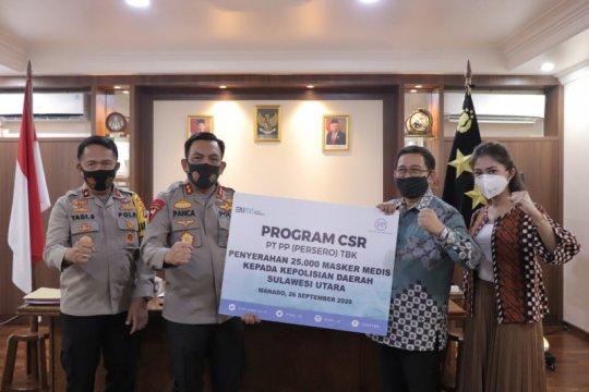 PT PP salurkan bantuan 26.000 masker medis ke Polda Sulut