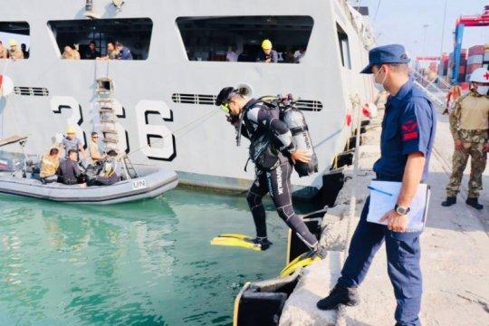 KRI Sultan Hasanuddin berlatih penyelaman bersama Coast Guard Turki