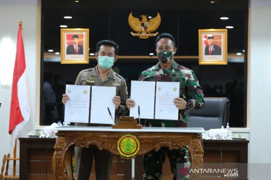 Kementan kerja sama dengan TNI AD dalam program lumbung pangan