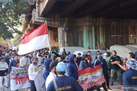 Ratusan pemuda dan pelajar gelar aksi tolak paham PKI di Jakarta Utara