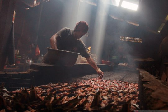 Industri kuliner ikan lele asap