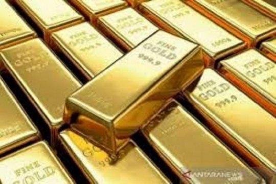 Harga emas naik 9,1 dolar, dipicu ketidakpastian pasar saham