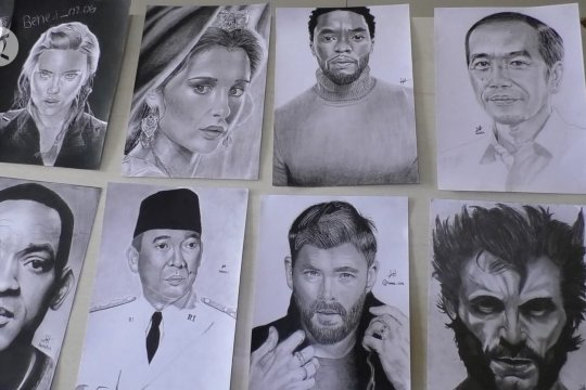 Cerita Benedict pelukis sketsa wajah Presiden Joko Widodo