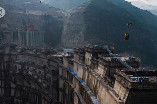 Pembangunan proyek PLTA terbesar kedua di China berjalan lancar