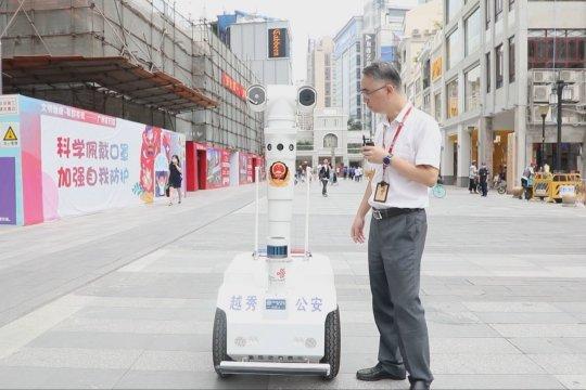Kota Guangzhou kerahkan robot patroli pintar untuk musim liburan