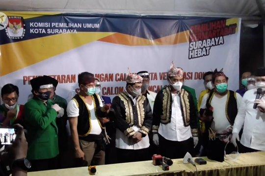 Delapan Parpol daftarkan Machfud Arifin-Mujiaman di Pilkada Surabaya