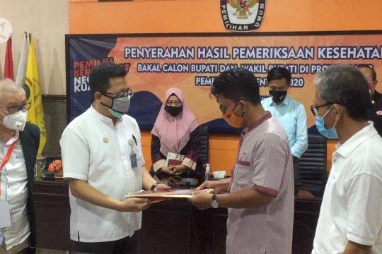 KPU NTB fasilitasi penyerahan hasil tes kesehatan bakal calon 7 Kabupaten/Kota