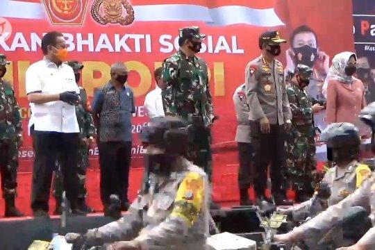 Panglima TNI-Kapolri lepas Tim Satgas Pendisiplinan Protokol Kesehatan di Palu