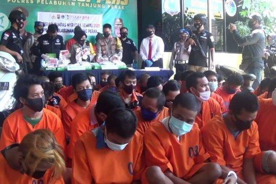 Polisi Surabaya ungkap peredaran 8 kilogram sabu-sabu