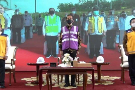Presiden Jokowi resmikan tol Permai yang dilengkapi terowongan satwa