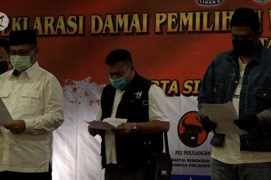 Akhyar Nasution & Bobby Nasution deklarasi damai Pilwali Medan