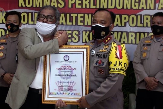 Komnas Perlindungan Anak berikan penghargaan untuk Polda Kalteng
