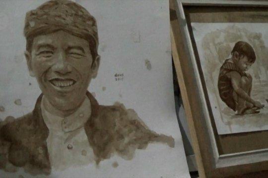 Kreasi seni lukisan dari ampas kopi