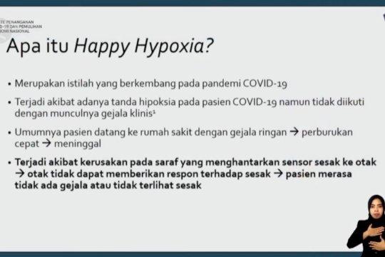 """Waspada gejala """"happy hypoxia"""" pada pasien COVID-19"""